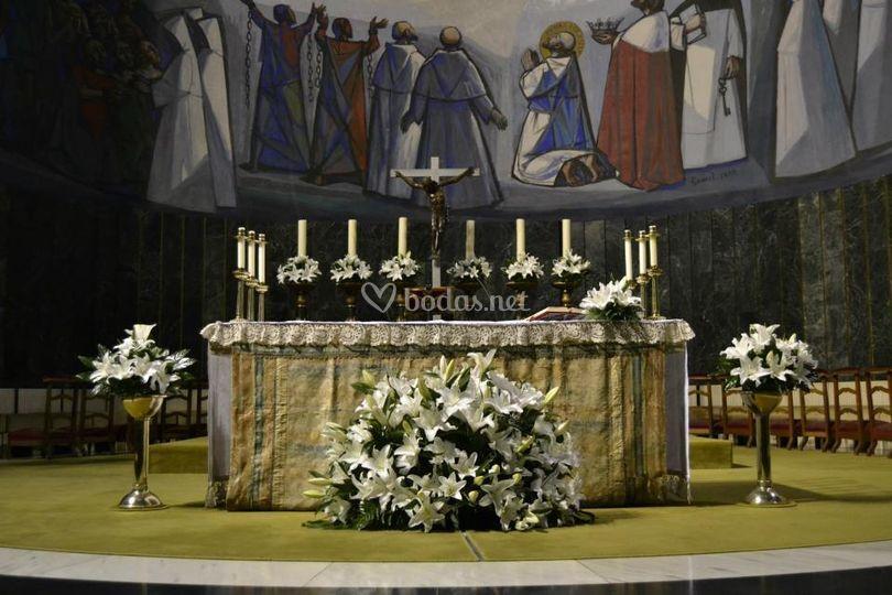 Decoración frontal de Iglesia