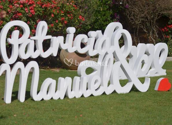 Letras para bodas mr - Letras decorativas pared ...