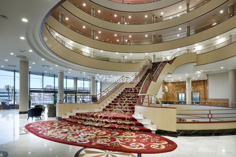 Hall principal de Eurostars Madrid Foro
