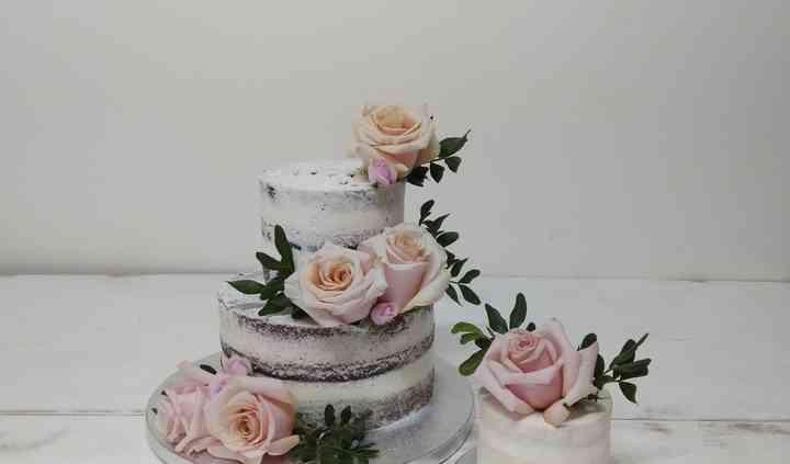 Tarta de boda de flores naturales