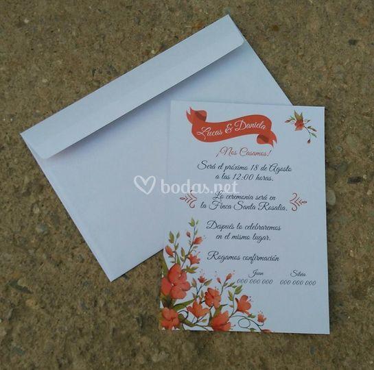 Invitaciones rojas