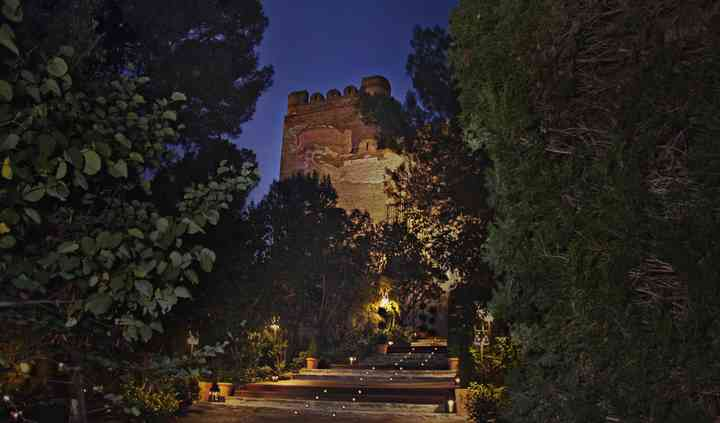 Escalinata de noche