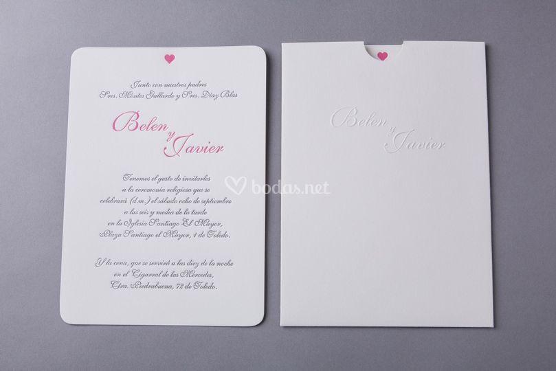 Invitación corazón