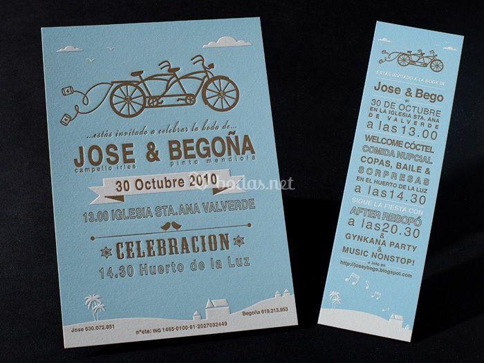 Invitación bicicleta