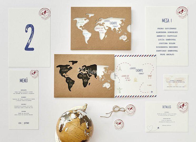 Invitación La vuelta al mundo