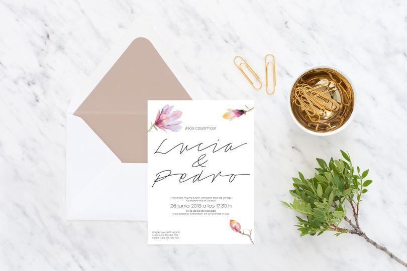 Invitación Magnolia
