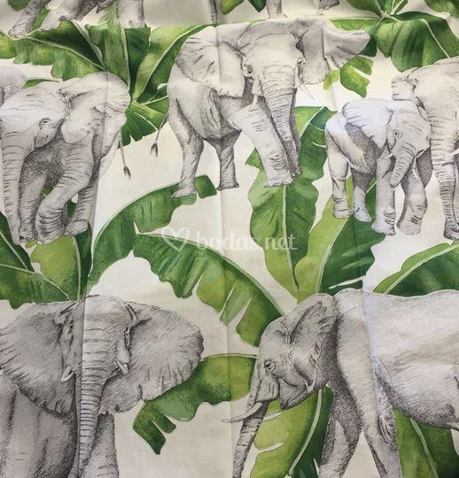 Mantelería elefantes