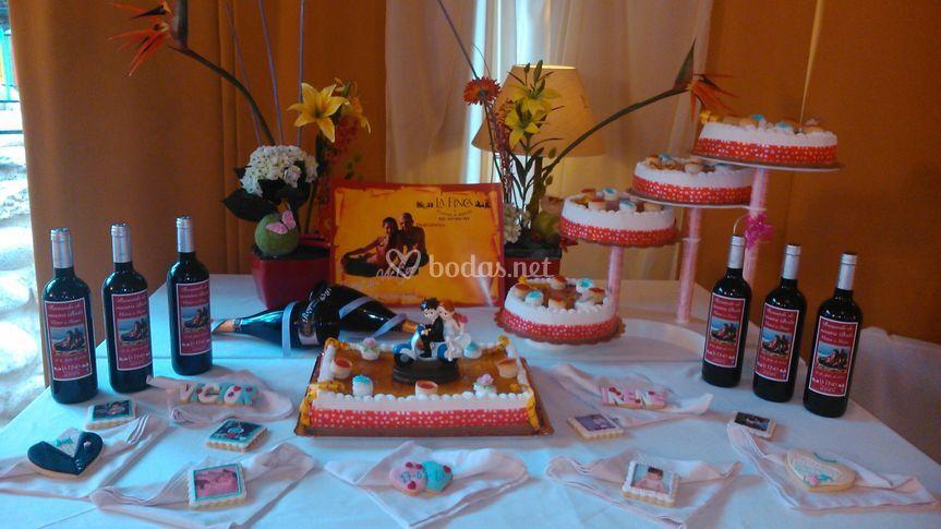 Mesa dulce galletas infancia