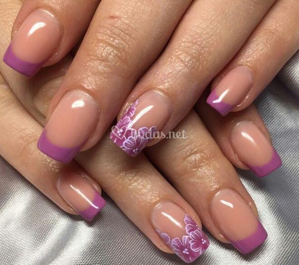 Uñas en tonos rosa