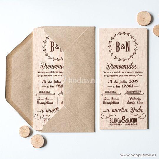 Invitación + sello