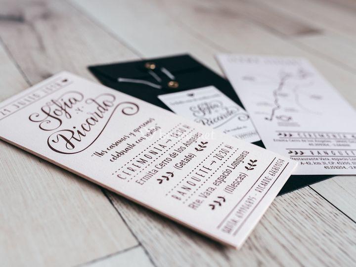 Invitación+mapa+lista de boda
