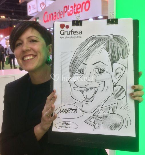 Caricaturas para eventos