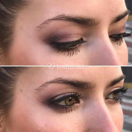 Rojizos para ojos verdes