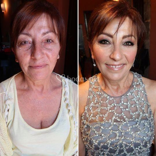 Antes y después de la madrina