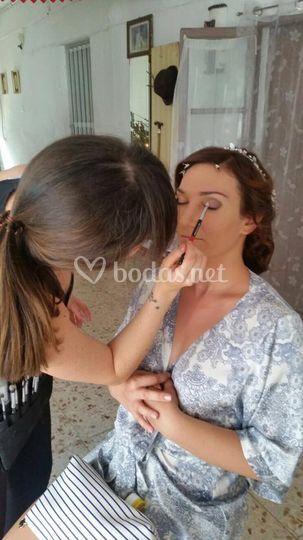 Maquillaje de novia, retoques