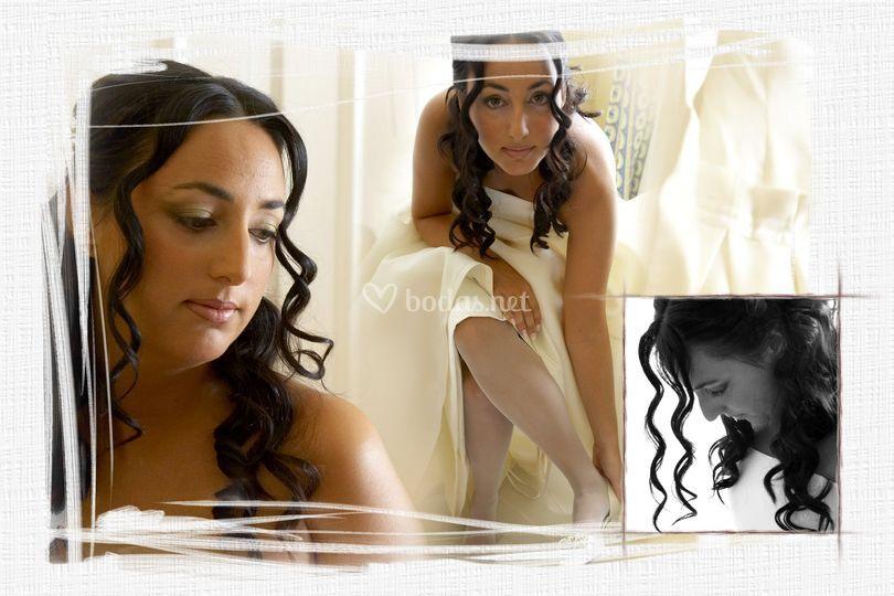 Fotos en casa de la novia
