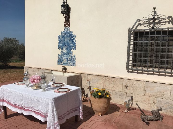 Detalle de mesa decorada