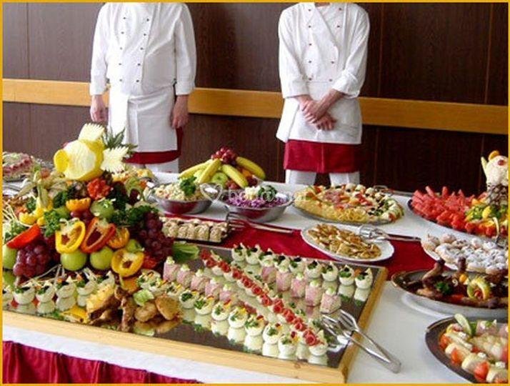Decoracion de mesa de catering