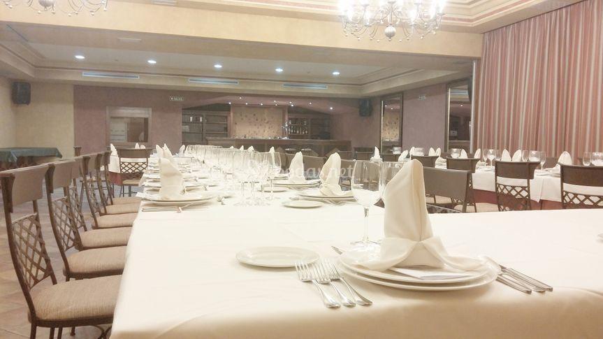 Detalle de montaje banquete