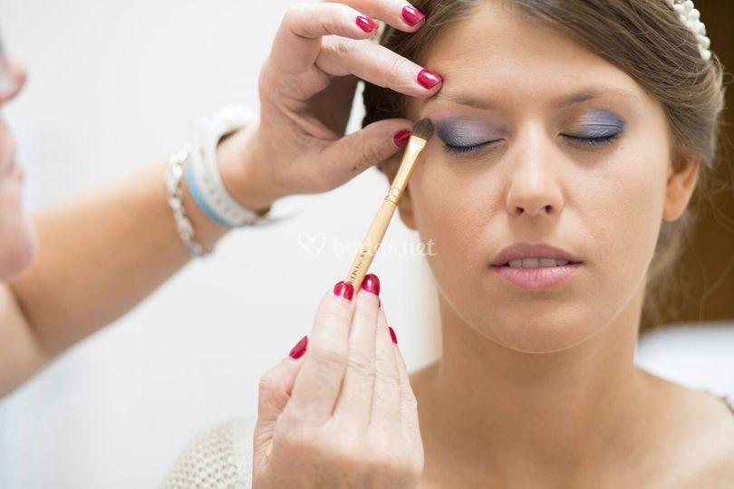 Proceso maquillaje novia