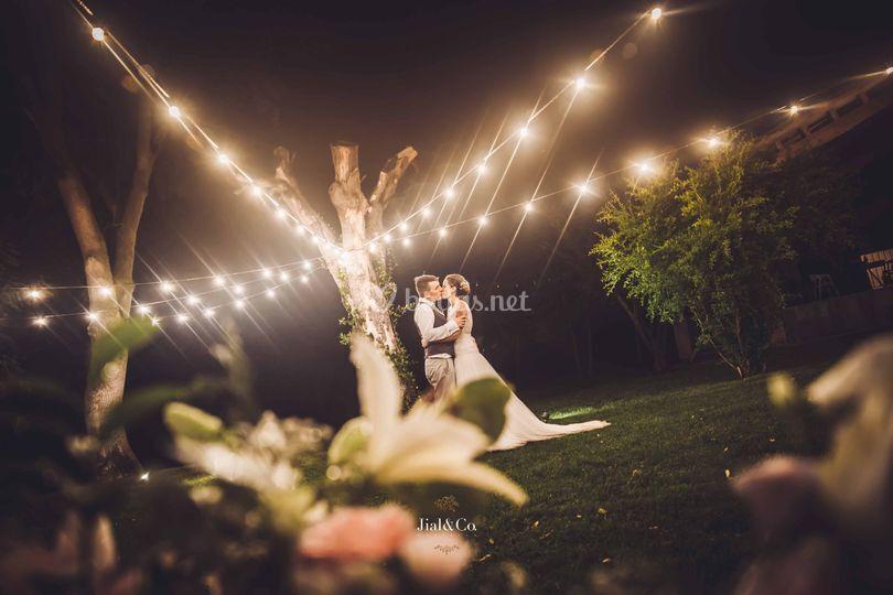 Guirnalda bombillas boda