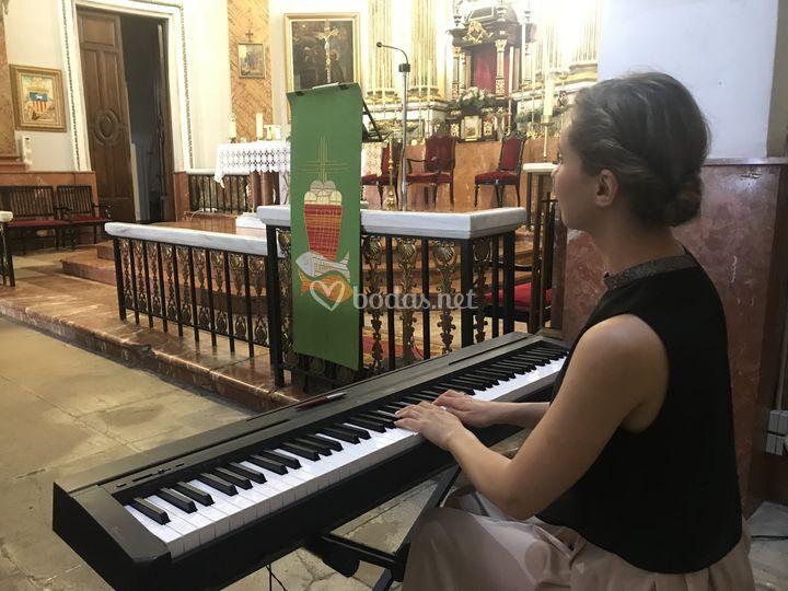 En una iglesia