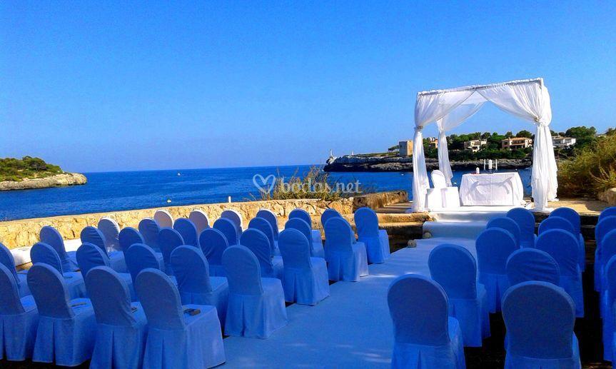 Ceremonia al lado del mar