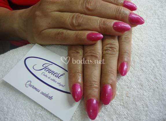 Manicura color rosa