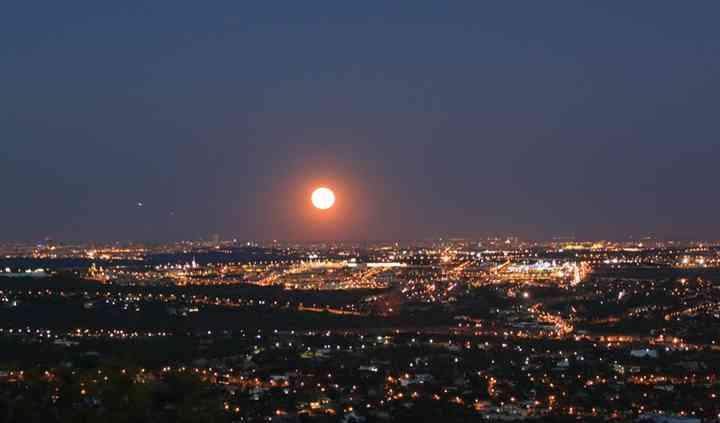 Luna llena desde Najaraya