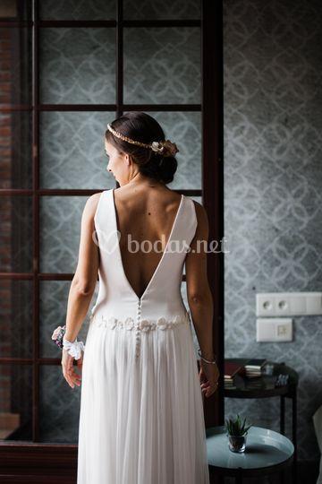 La espalda del vestido