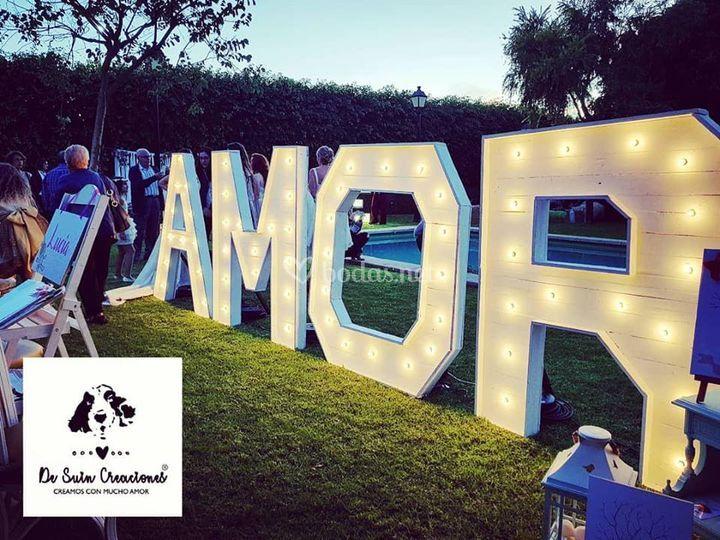 Alquiler letras gigantes lumin