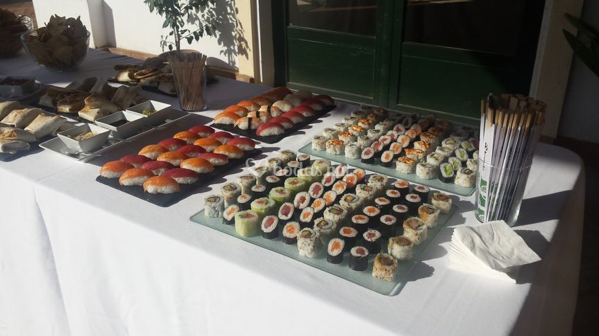 Sushi para el cóctel