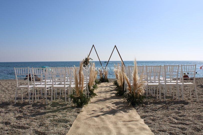 Boda civil playa