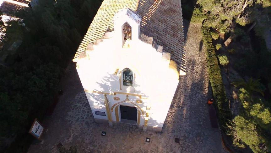 Ermita desde el aire