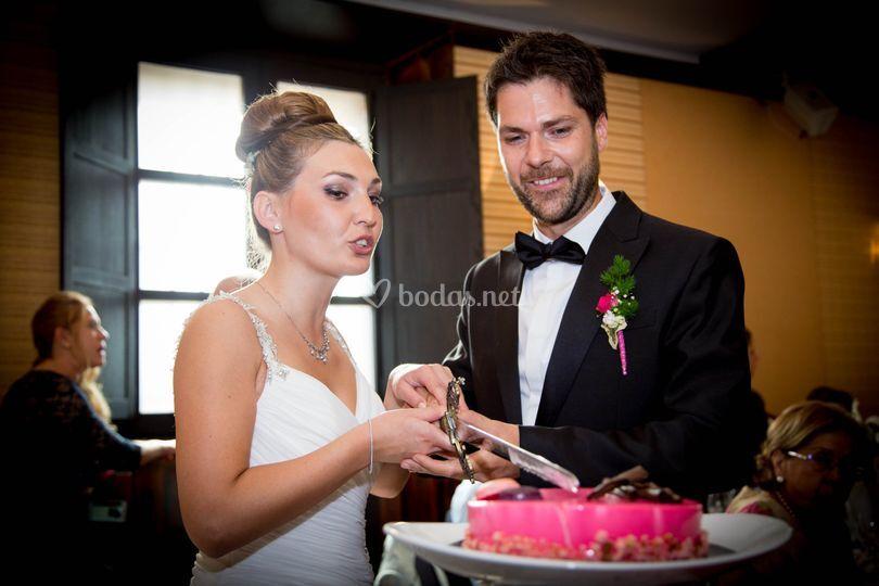 Cortando el pastel