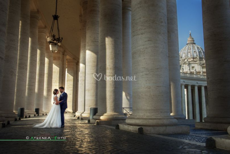 Postboda en Roma
