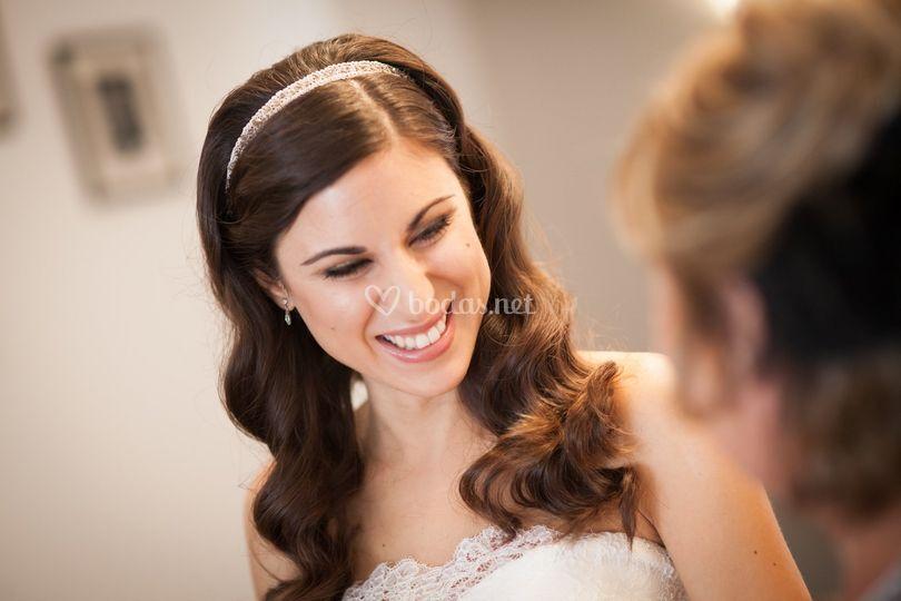 Marta, novia con estilo propio
