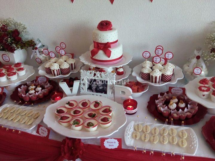 Mesa dulce San Valentin
