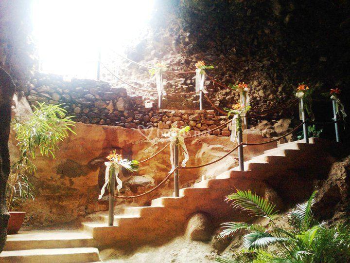 Escalinata decorada