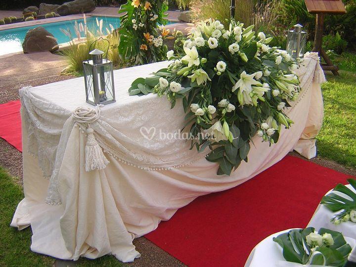 Mesa de la ceremonia