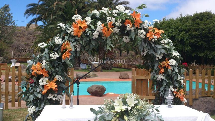 Detalle floral arco