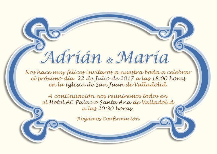 Diseño invitación, boda
