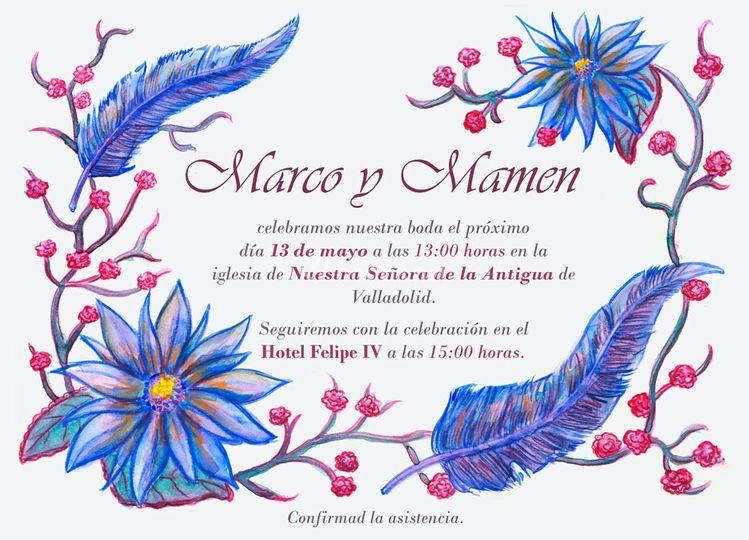 Diseño, invitación ilustrada
