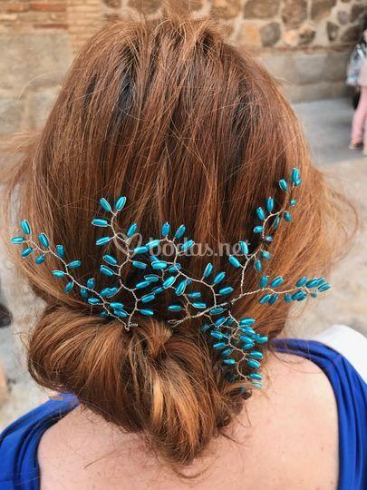 Tocado rama, azul lapislázuli
