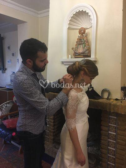 Peinado novia en El Rocío