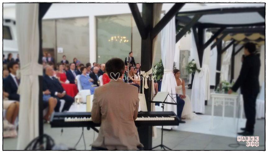 Kouki en la ceremonia