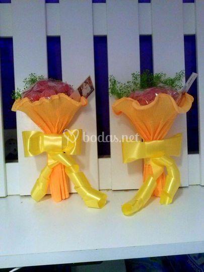 Ramos de flores de chuches
