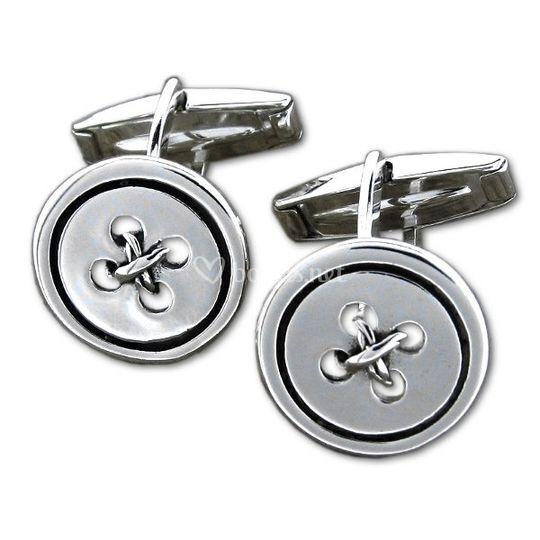 Gemelos plata botones