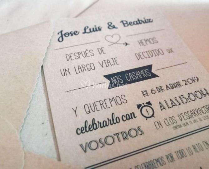 Invitaciones Amor Viajero