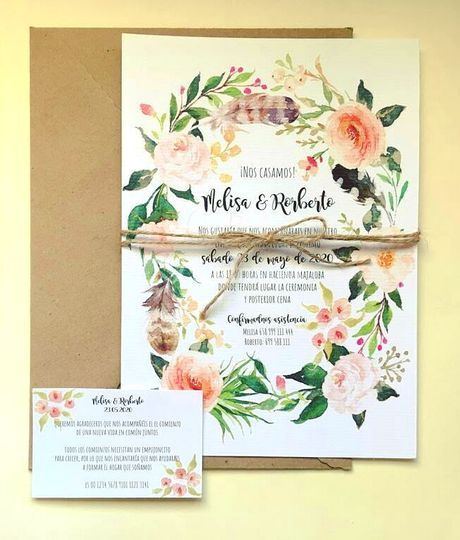 Invitaciones + tarjeta Doñana
